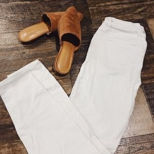 Lakeview Denim Mid Rise White Jeans